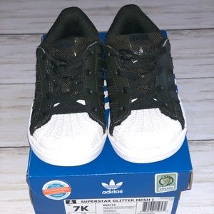 Adidas Superstar Glitter Mesh - 7 Toddler